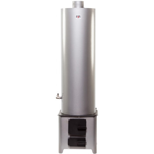 <strong>90L</strong> Stainless Steel Water Heater ensemble with Economic Firebox